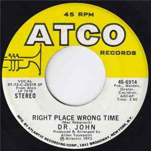 Dr. John - Right Place Wrong Time / I Been Hoodood Album